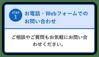 お電話・Webフォームでのお問い合わせ